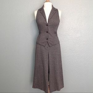 New York & Company Vest and Culotte Pant Suit
